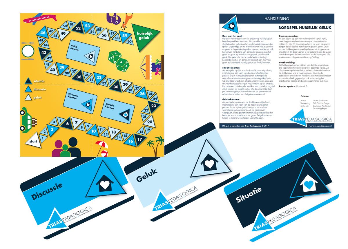 Bord en kaartspel huiselijk geluk